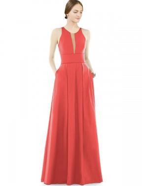 Shop Firecracker A-Line Long Hattie Bridesmaid Dress Canada