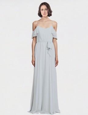 Shop Frost A-Line Long Tiana Bridesmaid Dress Canada