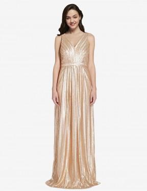 Shop Gold Sheath Long Linden Bridesmaid Dress Canada