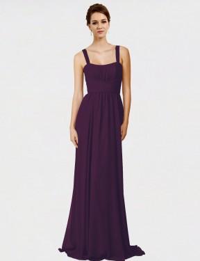 Shop Grape A-Line Long Aurelia Bridesmaid Dress Canada