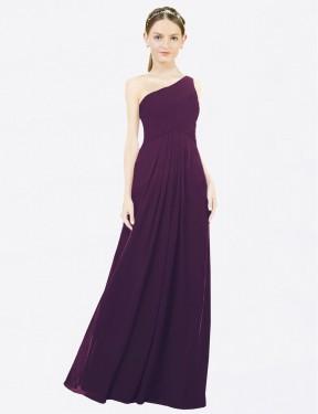 Shop Grape A-Line Long Clementine Bridesmaid Dress Canada