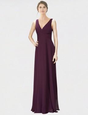 Shop Grape A-Line Long Jennylyn Bridesmaid Dress Canada