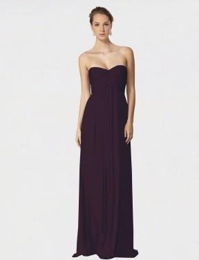 Shop Grape A-Line Long Jessie Bridesmaid Dress Canada