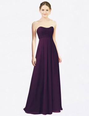 Shop Grape A-Line Long Melany Bridesmaid Dress Canada