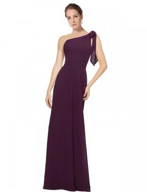 Shop Grape A-Line Long Rose Bridesmaid Dress Canada