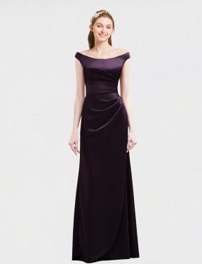 Shop Grape A-Line Long Selah Bridesmaid Dress Canada