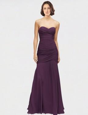 Shop Grape Mermaid Long Adley Bridesmaid Dress Canada