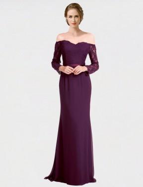 Shop Grape Mermaid Long Lindsey Bridesmaid Dress Canada