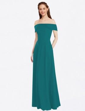 Shop Hunter A-Line Long Lina Bridesmaid Dress Canada