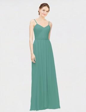 Shop Icelandic Silver A-Line Long Lylah Bridesmaid Dress Canada