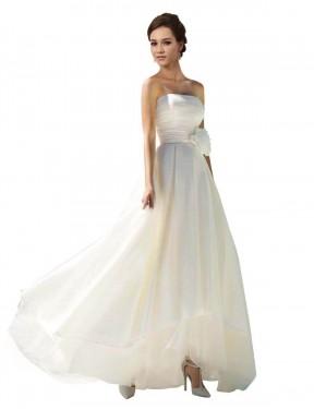 Shop Ivory A-Line Long Briella Wedding Dress Canada