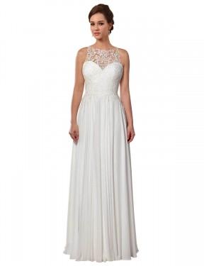 Shop Ivory A-Line Long Brooklynn Wedding Dress Canada