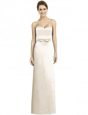 Shop Ivory A-Line Long Emmalyn Bridesmaid Dress Canada