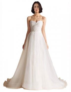 Shop Ivory A-Line Long Kali Wedding Dress Canada
