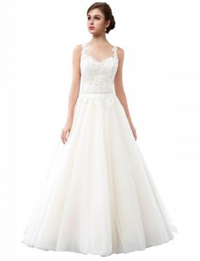 Shop Ivory A-Line Long Raegan Wedding Dress Canada