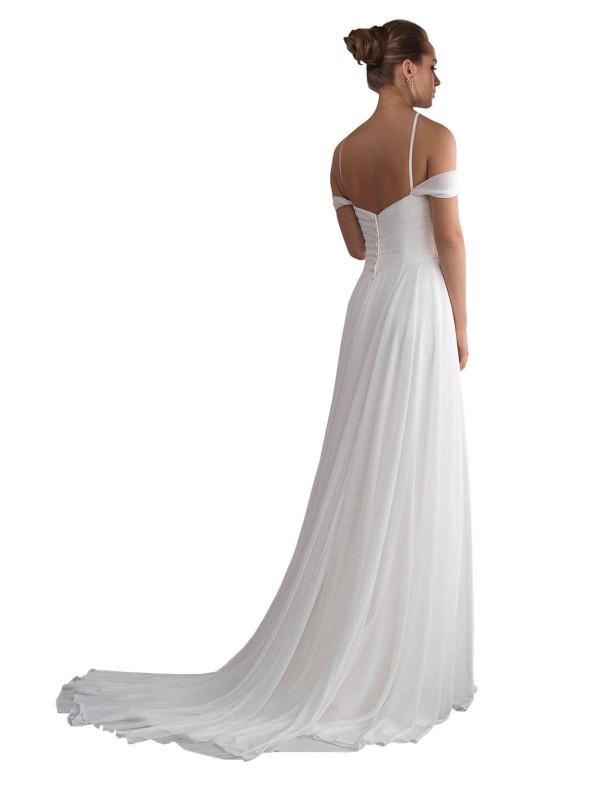 Shop Ivory A-Line Long Ruth Wedding Dress Canada