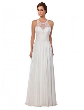 Shop Ivory A-Line Long Sawyer Wedding Dress Canada
