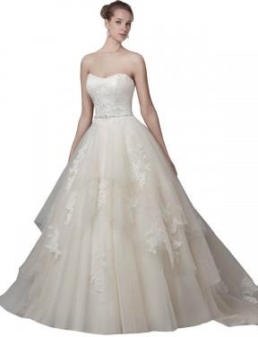 Shop Ivory Ball Gown Long Elaina Wedding Dress Canada