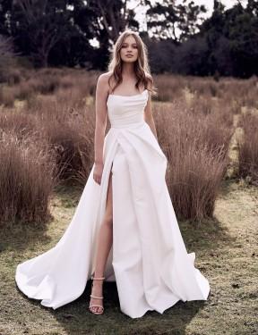 Shop Ivory Ball Gown Long Wedding Dress Canada