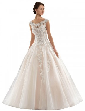 Shop Ivory & Champagne Ball Gown Long Laila Wedding Dress Canada