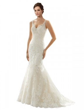 Shop Ivory & Champagne Mermaid Long Paige Wedding Dress Canada