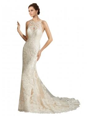 Shop Ivory & Champagne Mermaid Long Teagan Wedding Dress Canada