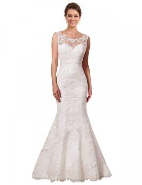Shop Ivory Mermaid Long Alina Wedding Dress Canada