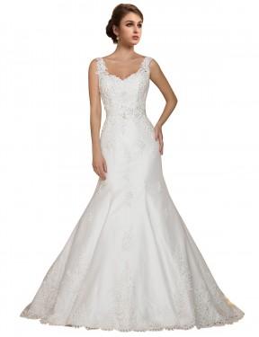 Shop Ivory Mermaid Long Ana Wedding Dress Canada