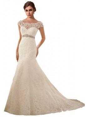 Shop Ivory Mermaid Long Finley Wedding Dress Canada