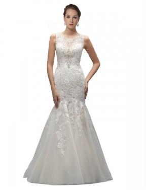 Shop Ivory Mermaid Long Gabrielle Wedding Dress Canada