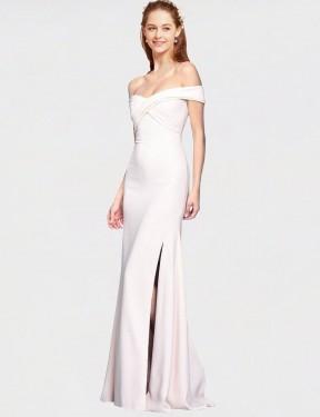 Shop Ivory Mermaid Long Jahnita Bridesmaid Dress Canada