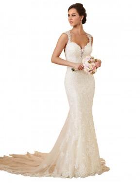 Shop Ivory Mermaid Long Joanna Wedding Dress Canada