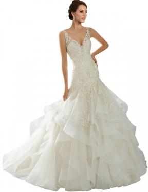 Shop Ivory Mermaid Long Lucia Wedding Dress Canada