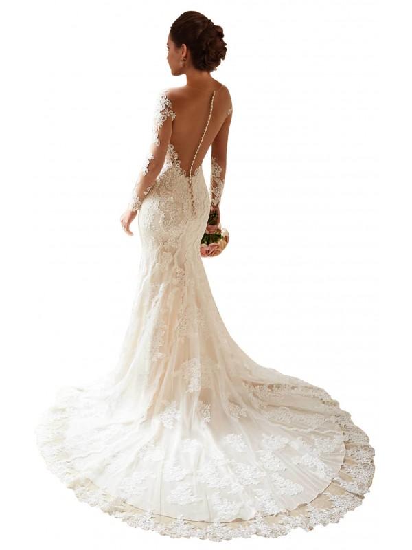 Shop Ivory Mermaid Long Mckenzie Wedding Dress Canada