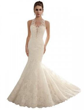Shop Ivory Mermaid Long Valeria Wedding Dress Canada