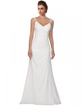 Shop Ivory Sheath Long Lila Wedding Dress Canada