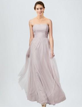 Shop Latte A-Line Long Brielle Bridesmaid Dress Canada