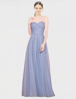 Shop Light Sky Blue A-Line Long Kallie Bridesmaid Dress Canada