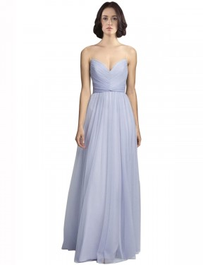 Shop Lilac A-Line Long Roselyn Bridesmaid Dress Canada