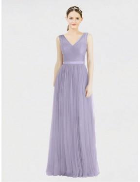 Shop Lilac A-Line Long Tinsley Bridesmaid Dress Canada