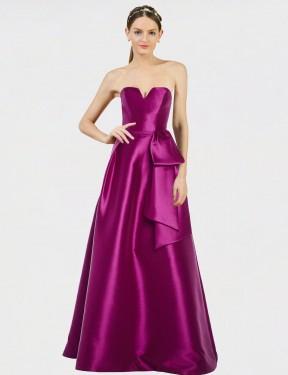Shop Merlot A-Line Long Shanice Bridesmaid Dress Canada