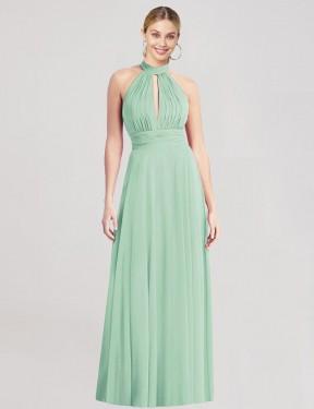 Shop Mint Green A-Line Long Mike Bridesmaid Dress Canada