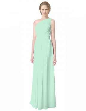 Shop Mint Green A-Line Long Novalee Bridesmaid Dress Canada