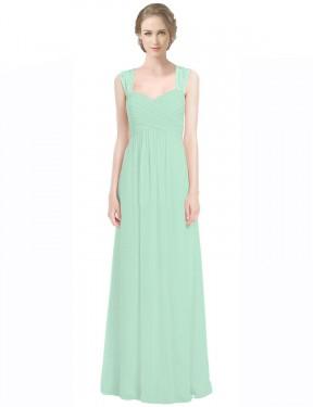 Shop Mint Green A-Line Long Opal Bridesmaid Dress Canada