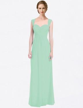 Shop Mint Green A-Line Long Patricia Bridesmaid Dress Canada