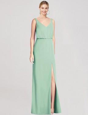 Shop Mint Green Mermaid Long Perry Bridesmaid Dress Canada