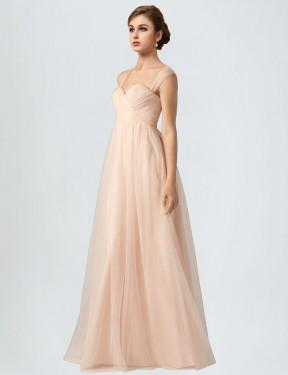 Shop Nude A-Line Long Kailani Bridesmaid Dress Canada