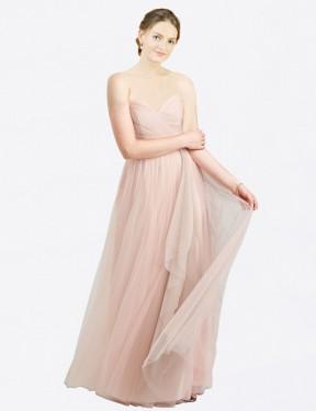 Shop Pink A-Line Long Aubrey Bridesmaid Dress Canada