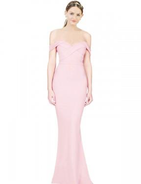 Shop Pink A-Line Long Ayad Bridesmaid Dress Canada
