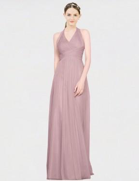 Shop Pink A-Line Long Corinne Bridesmaid Dress Canada